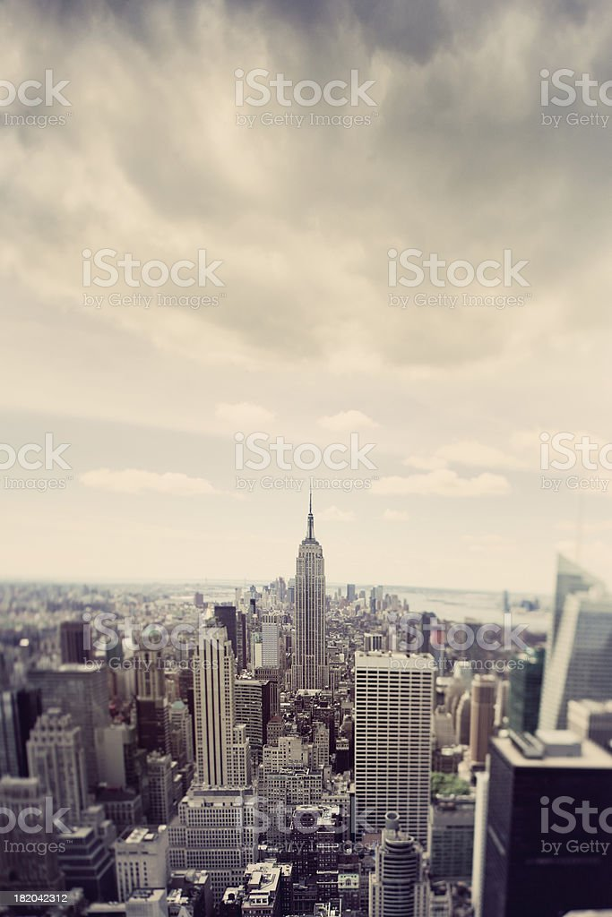 Bad forecast over New York City royalty-free stock photo