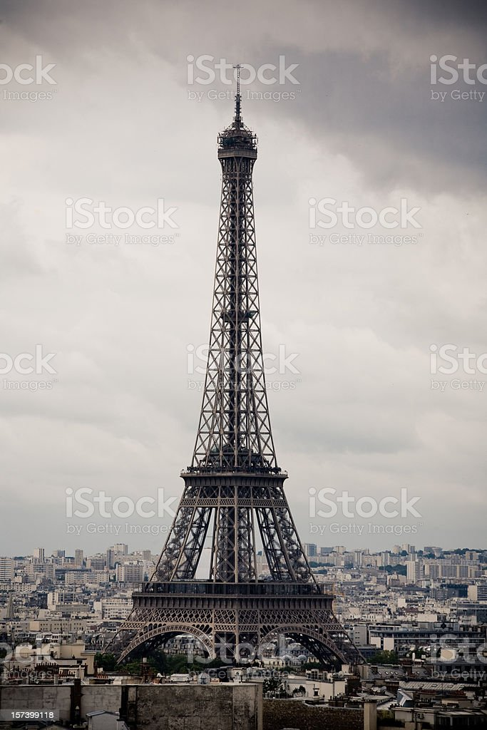 Bad forecast over Tour Eiffel royalty-free stock photo