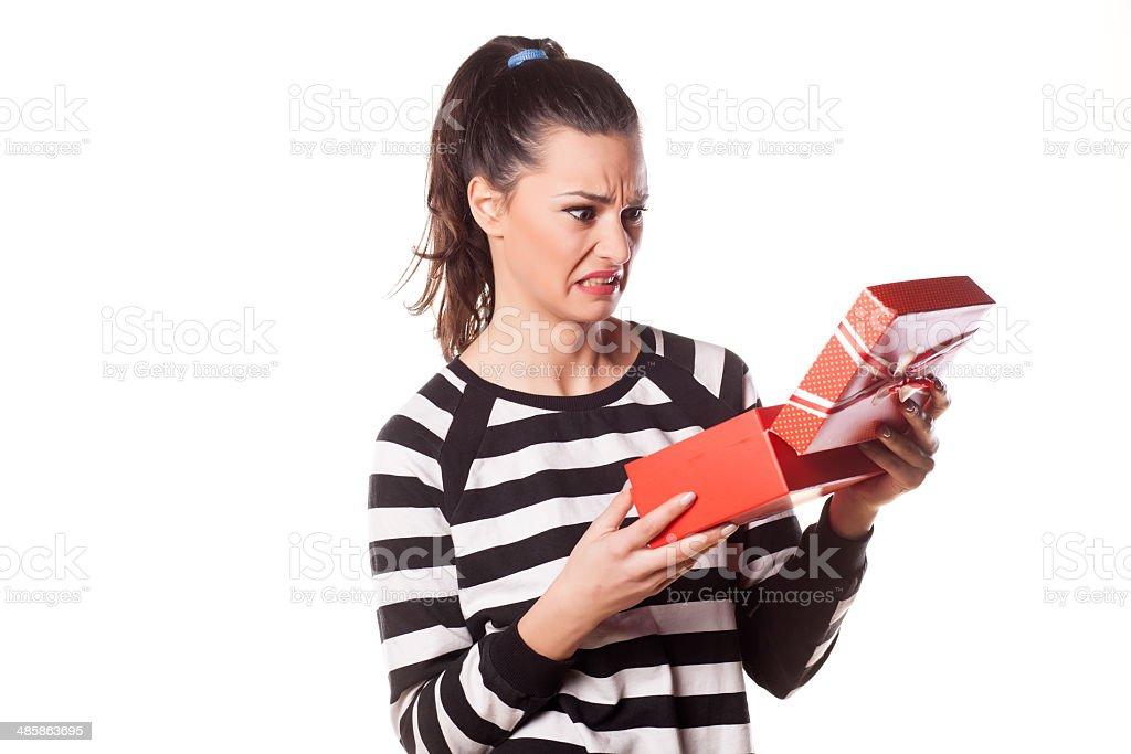 bad gift stock photo