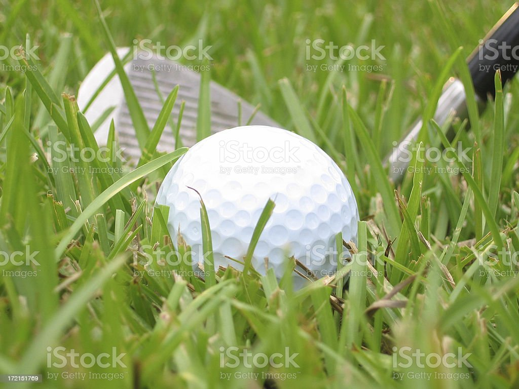 bad golf lie landscape royalty-free stock photo