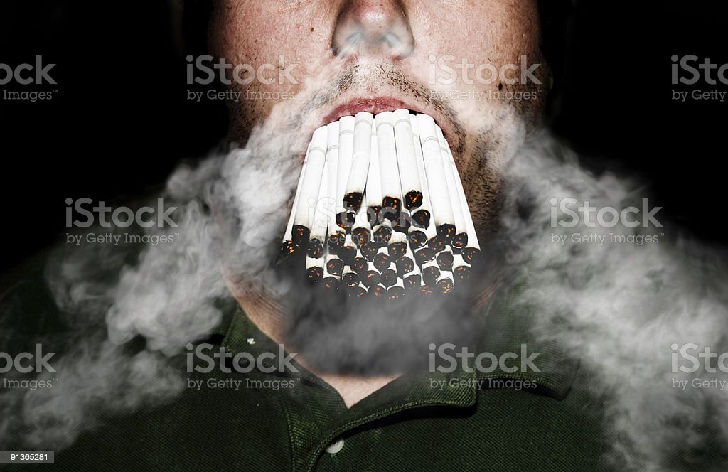 Bad Habit royalty-free stock photo