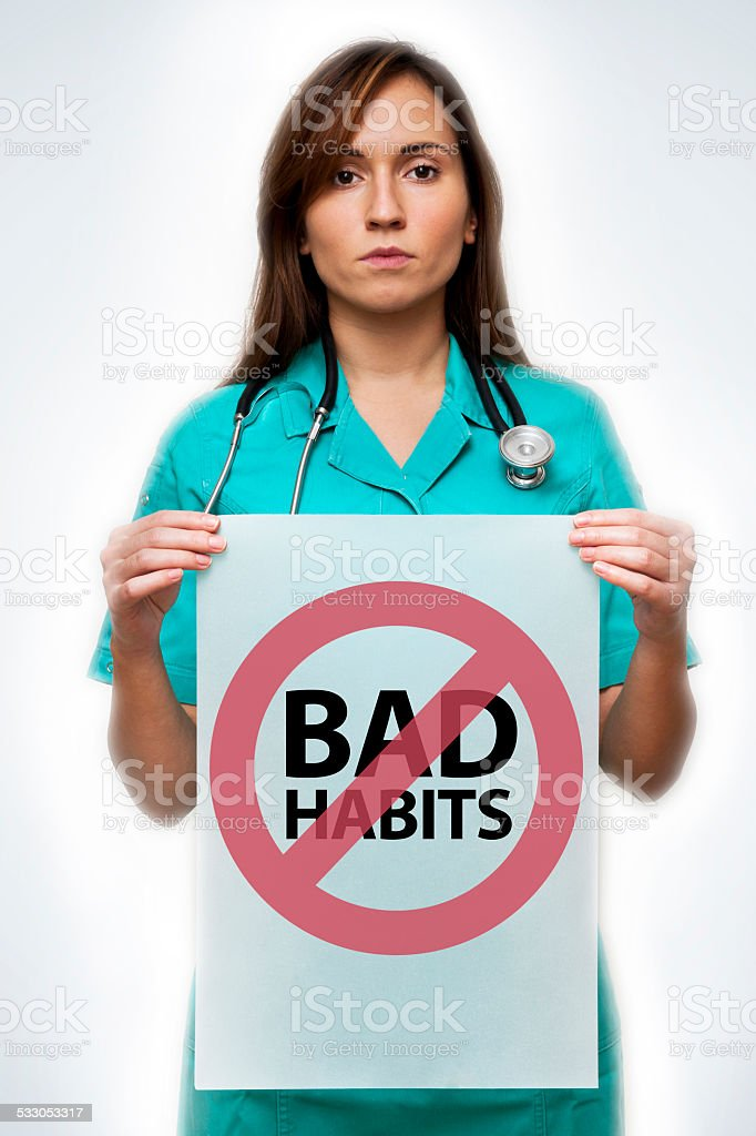 Bad habits / Medical concept (Click for more) stock photo