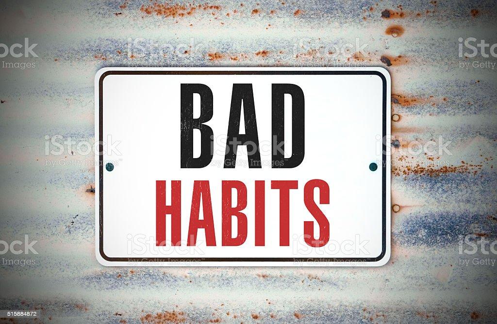 Bad Habits stock photo