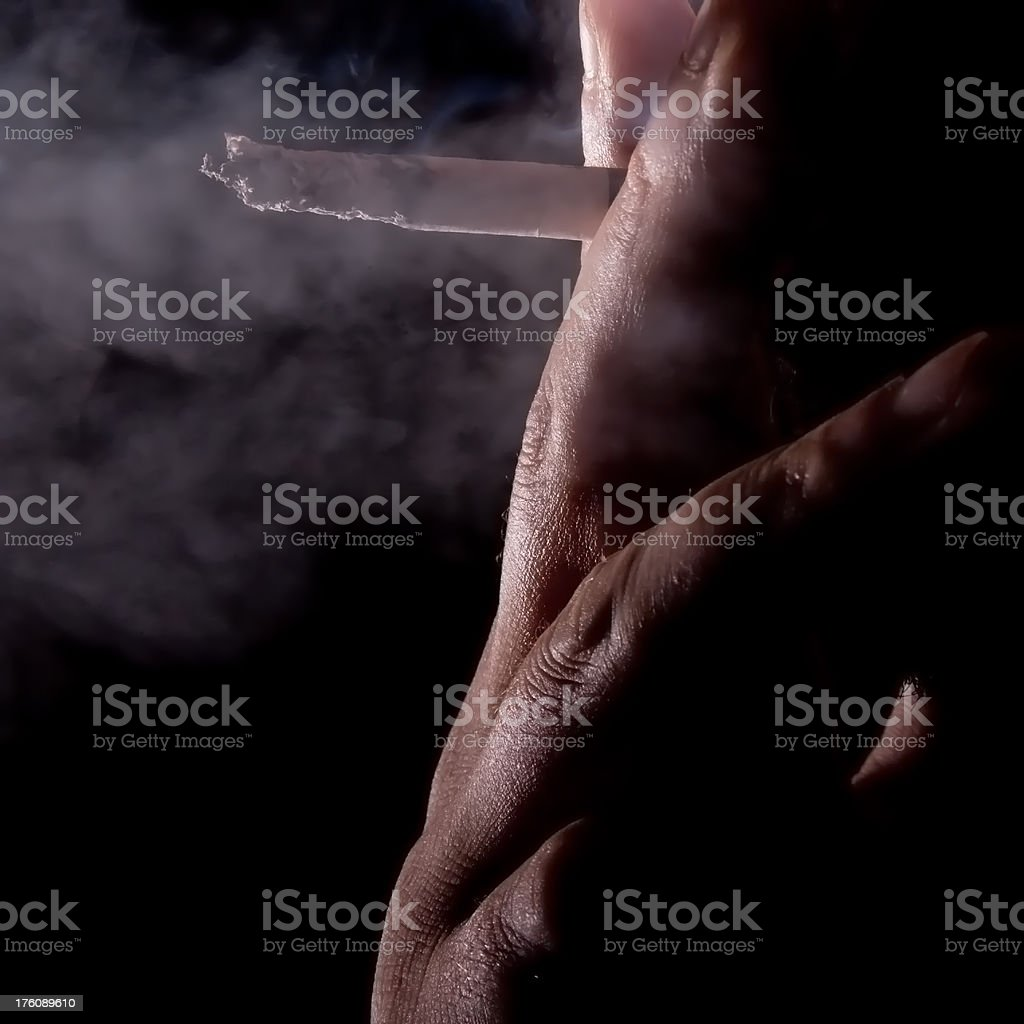 Bad Habits - Smoking royalty-free stock photo