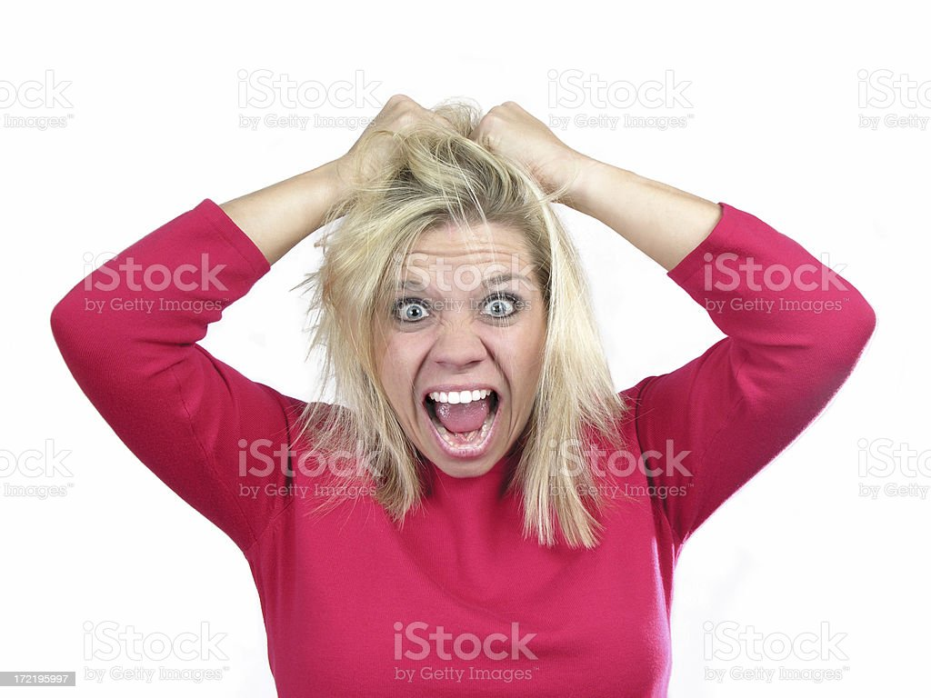 Bad hair day! royalty-free stock photo