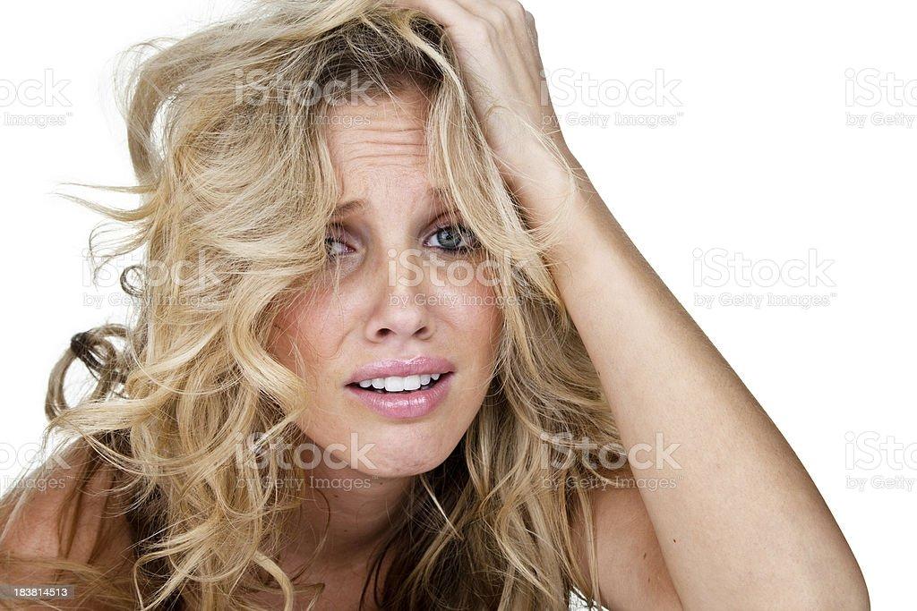 Bad hair despair stock photo