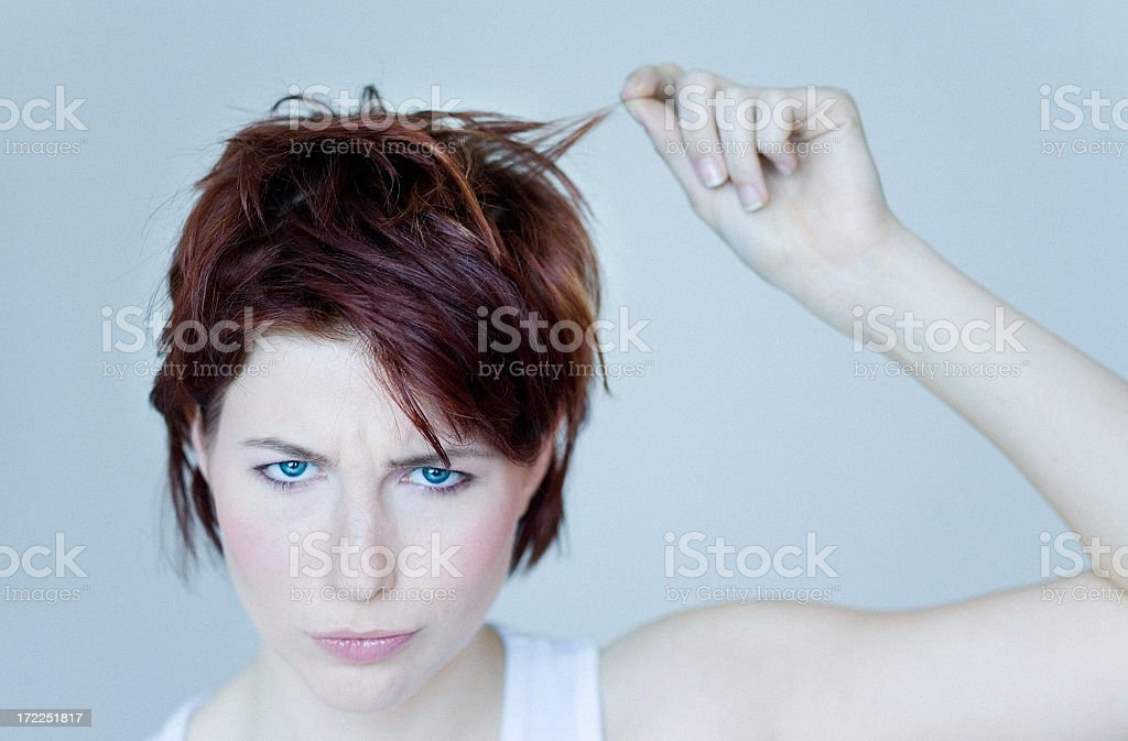 Bad Hair royalty-free stock photo