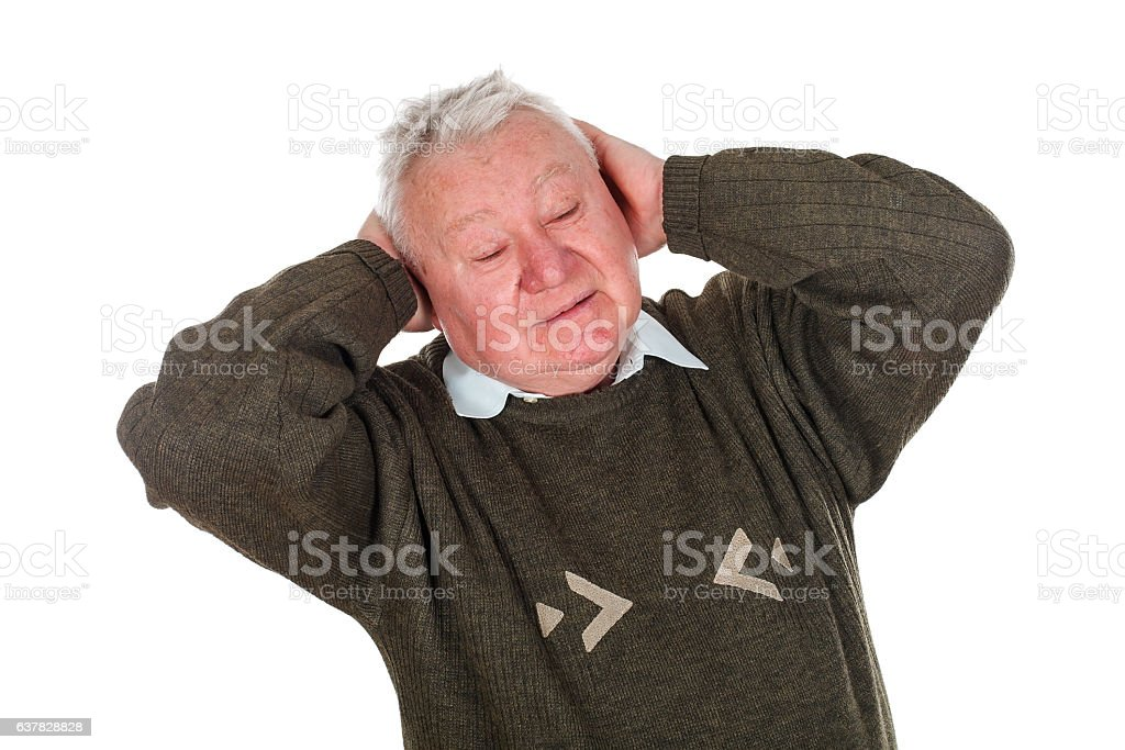 Bad headache stock photo