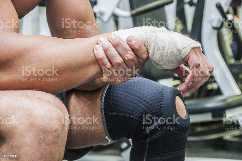 Bad injury stock photo