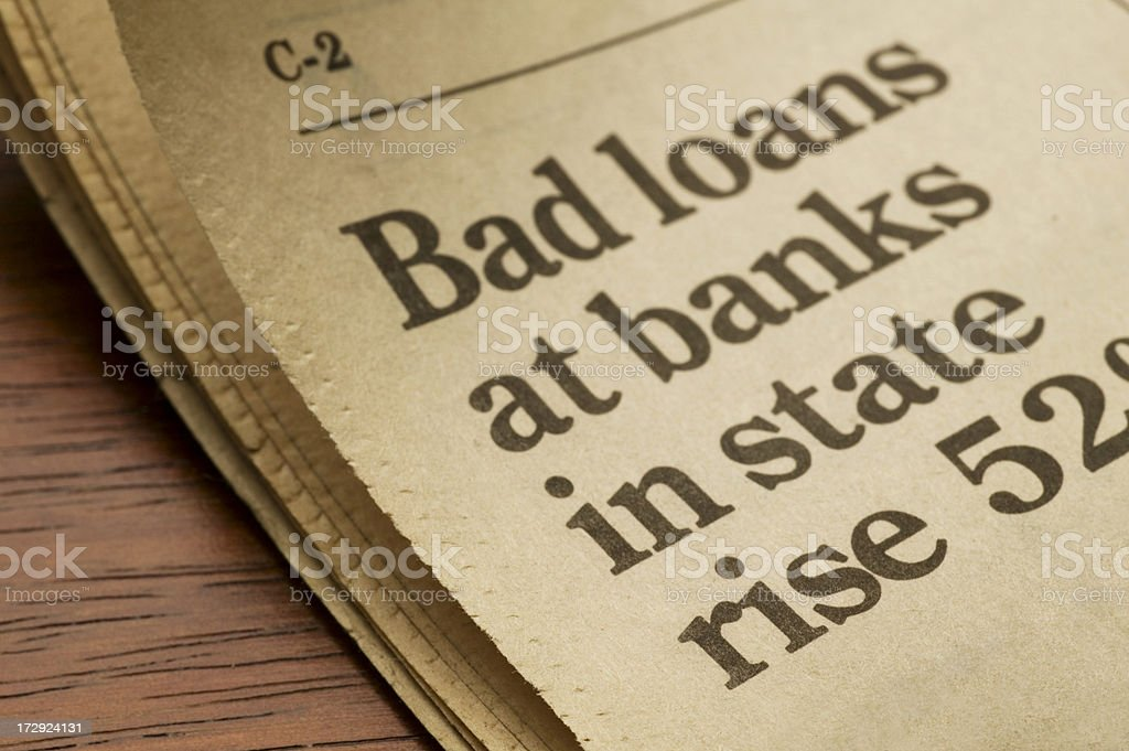 Bad Loans royalty-free stock photo