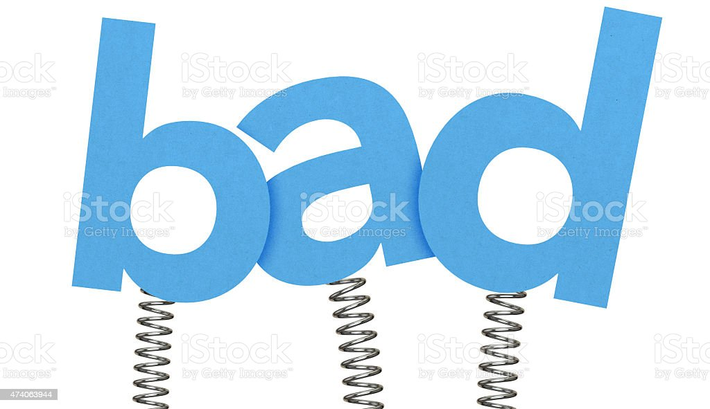 Bad made from letters on springs stock photo