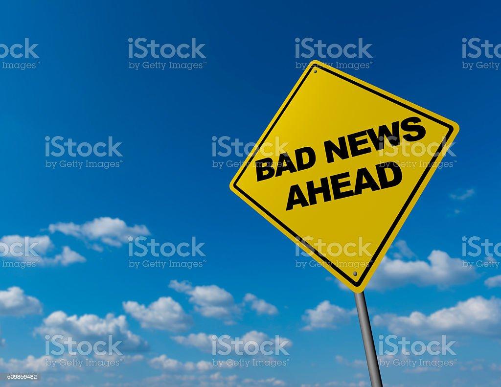 Bad News Ahead stock photo