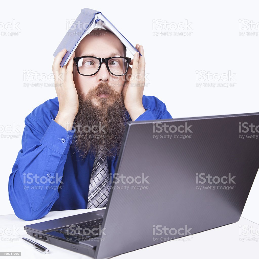 Bad news and problems (Crossed eyes) - Businessman (Series) royalty-free stock photo