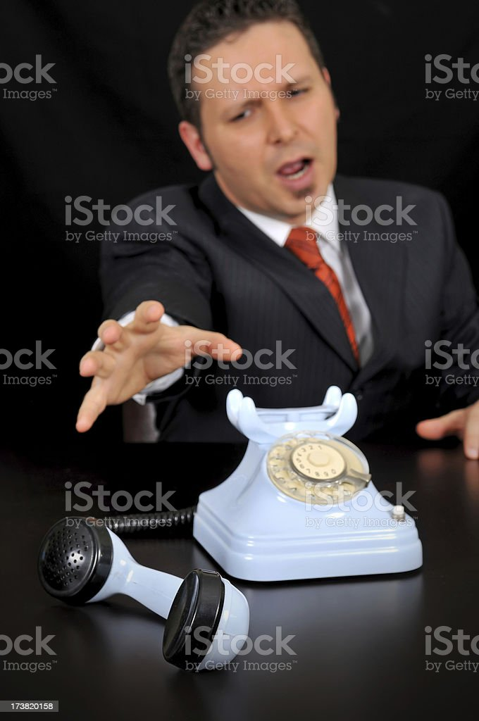 bad news for businessman royalty-free stock photo