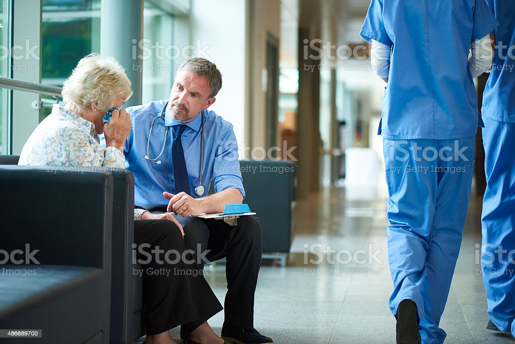 bad news in the hospital stock photo