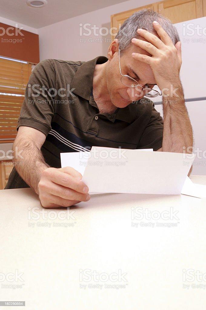 Bad News Letter stock photo