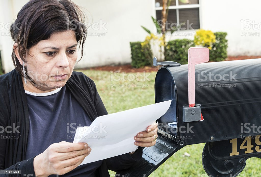 Bad news stock photo