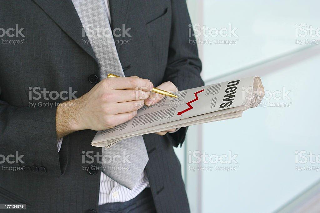 Bad news royalty-free stock photo