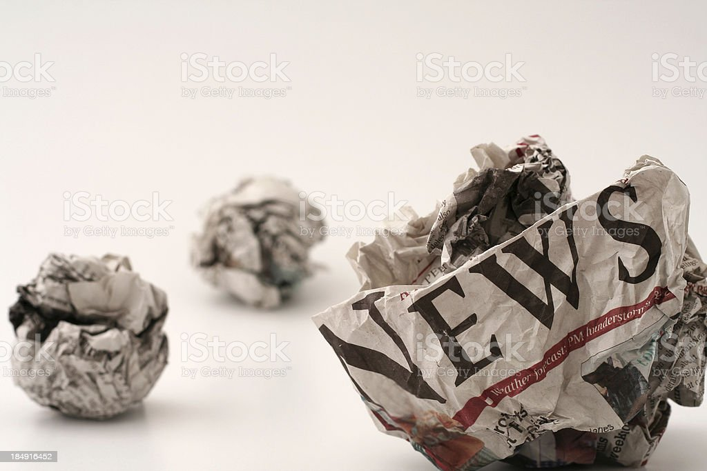 Bad news #2 stock photo