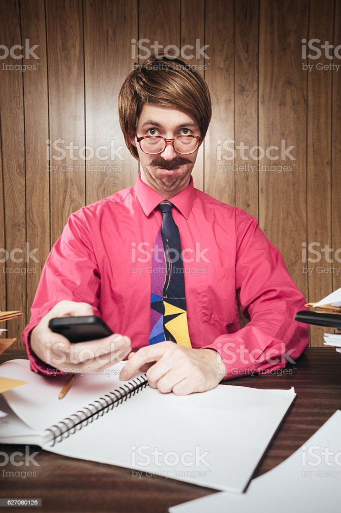 Bad News Text in Office stock photo