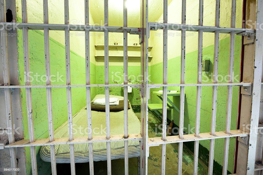 Bad Prison Cell Alcatraz stock photo