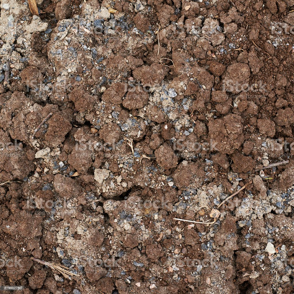 Bad quality earth soil stock photo