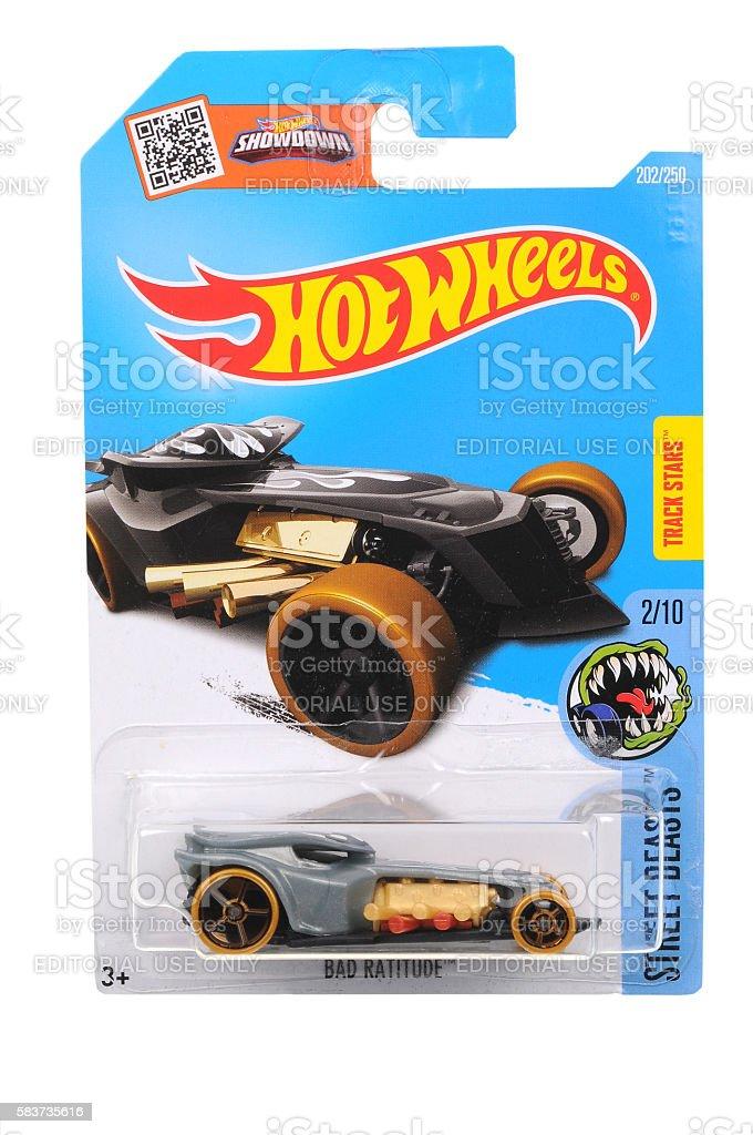 Bad Ratitude Hot Wheels Diecast Toy Car stock photo