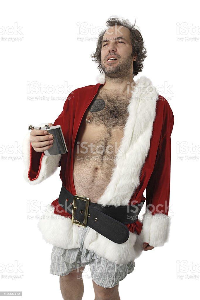 Bad Santa Claus stock photo