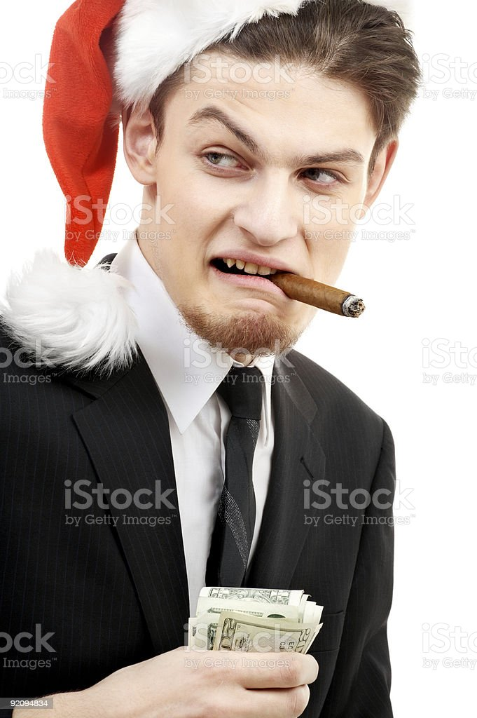 bad santa royalty-free stock photo