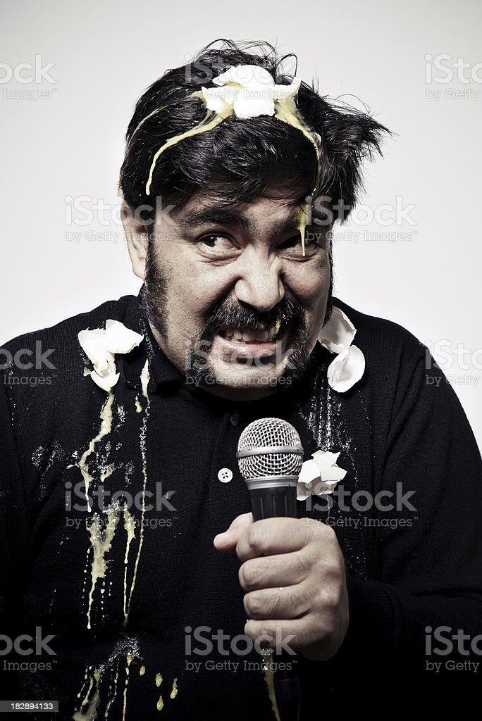 Bad Singer stock photo