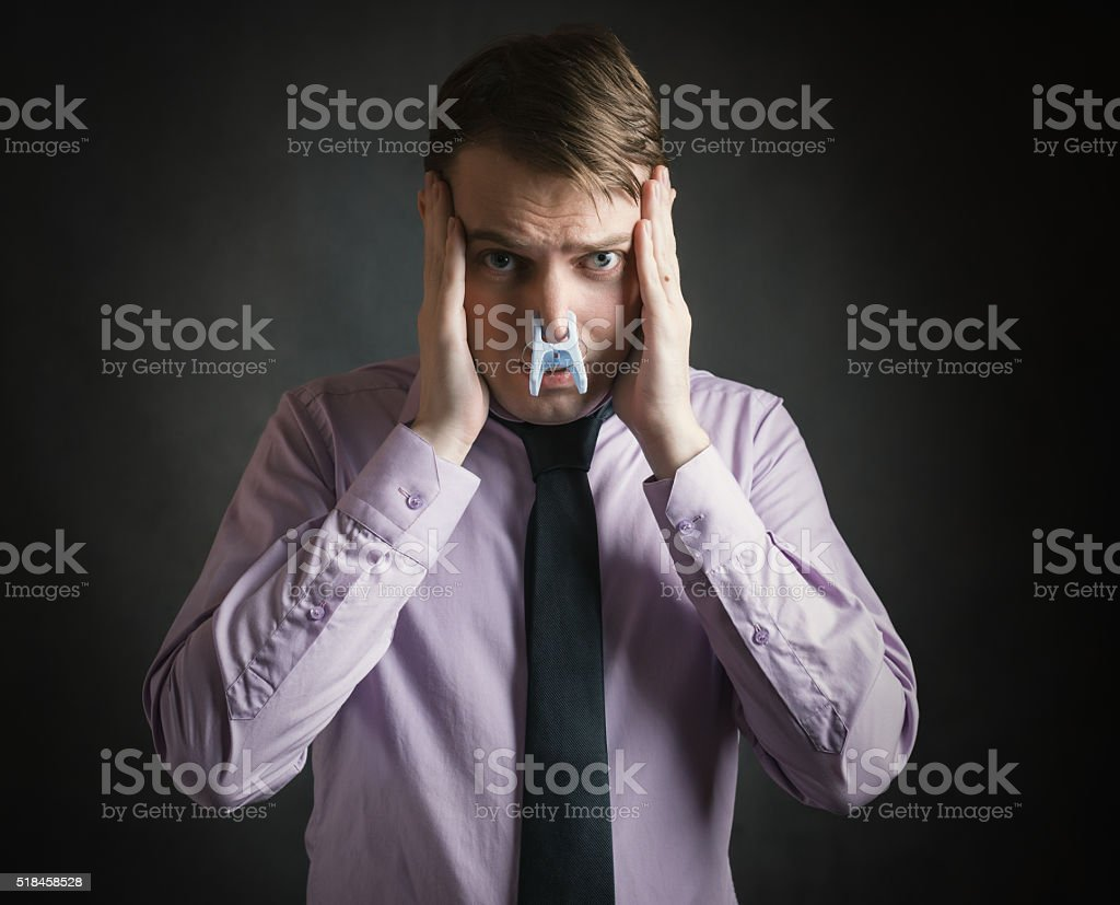Bad smell concept photography. stock photo