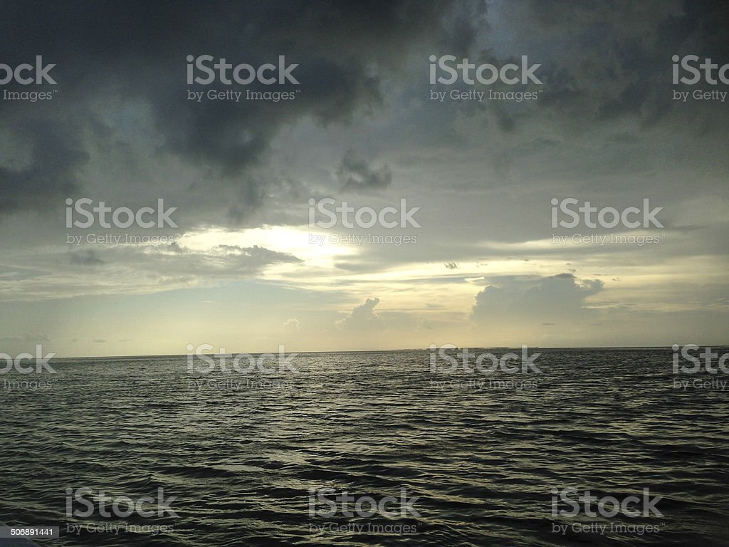 Bad storm looming over the ocean royalty-free stock photo