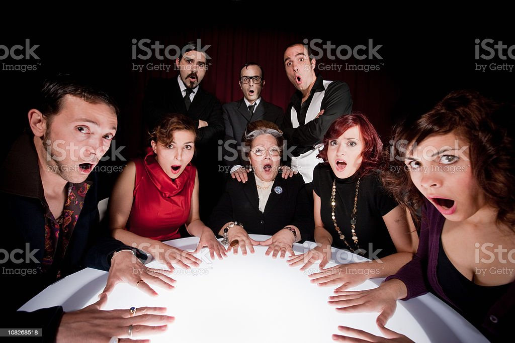 Bad Surprise at the Seance royalty-free stock photo