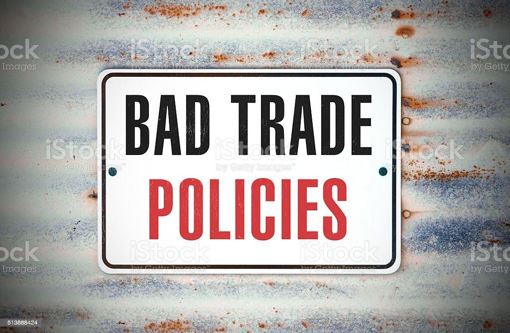 Bad Trade Policies stock photo