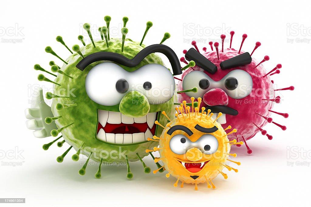 Bad viruses vector art illustration