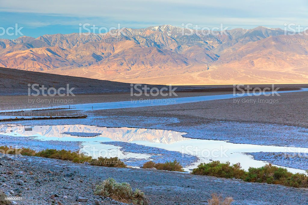 bad water in Death Valley National Park stock photo
