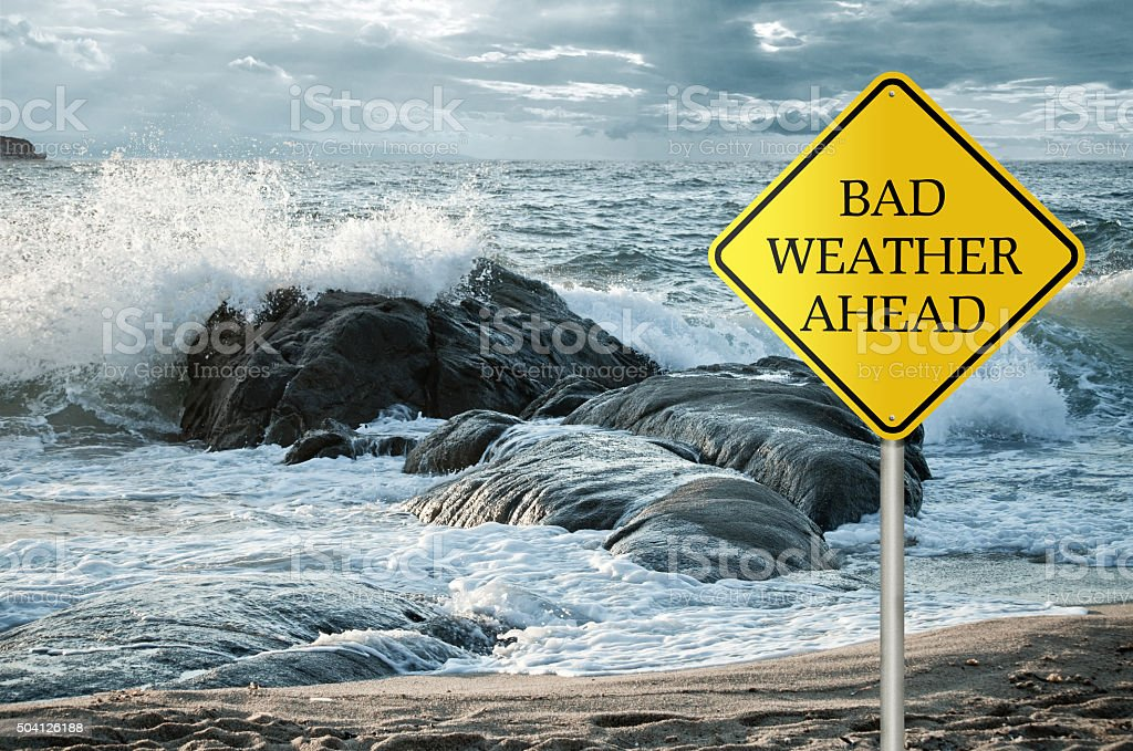 Bad Weather Ahead stock photo
