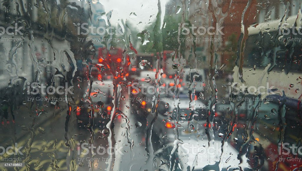 Bad weather and traffic stock photo