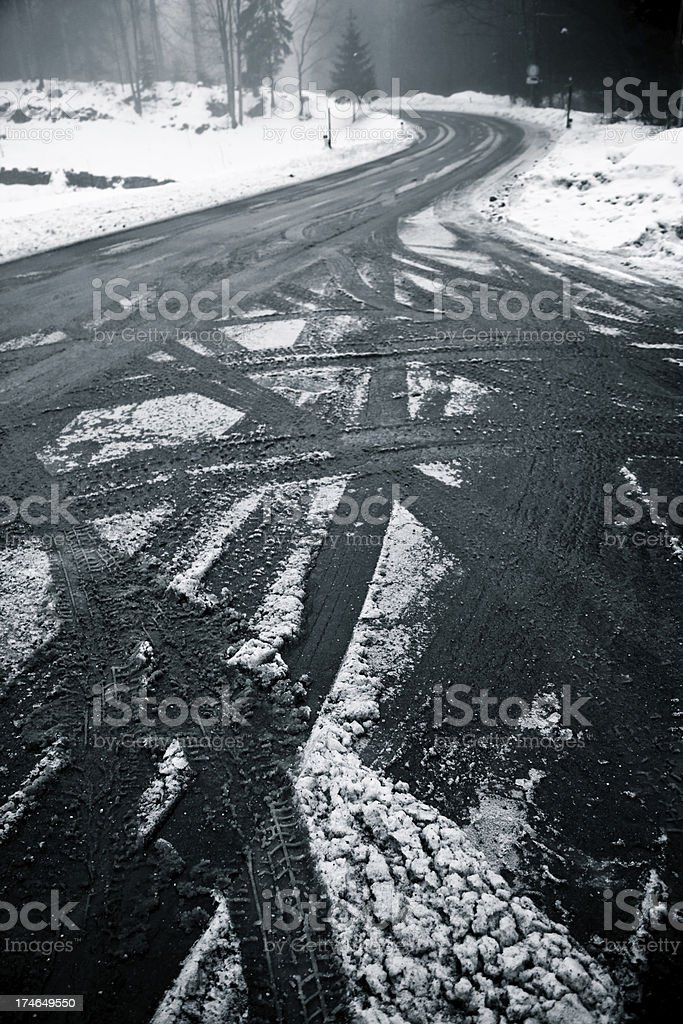 Bad weather condition for driving royalty-free stock photo