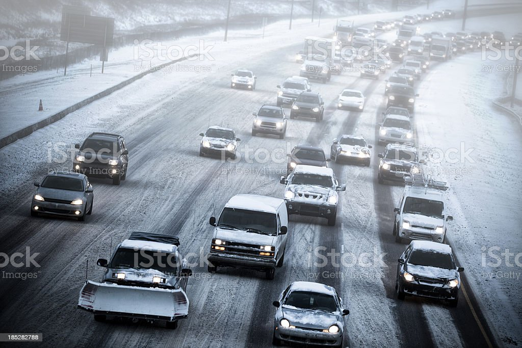 Bad Weather Driving stock photo