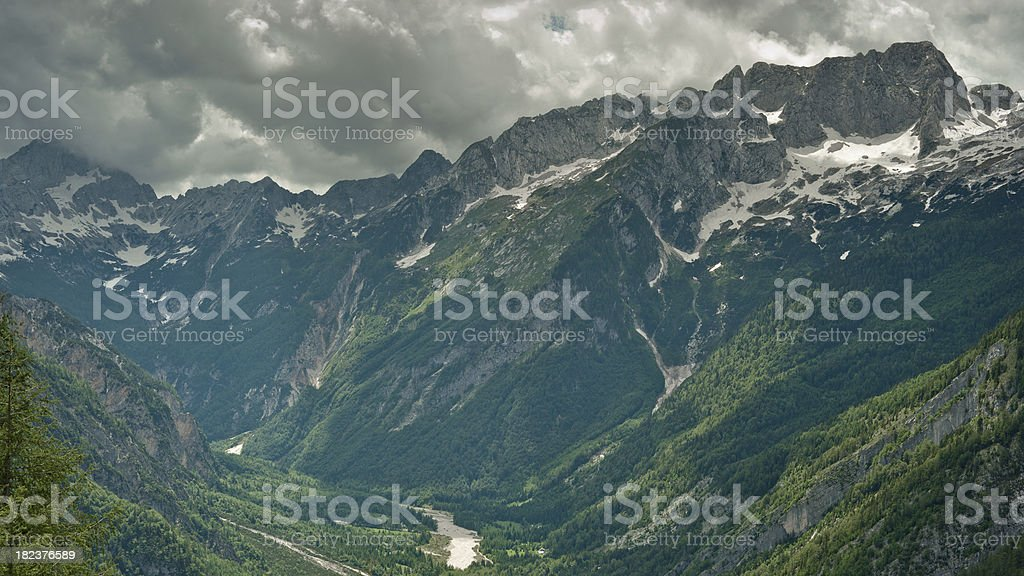 Bad Weather in the Mountains stock photo