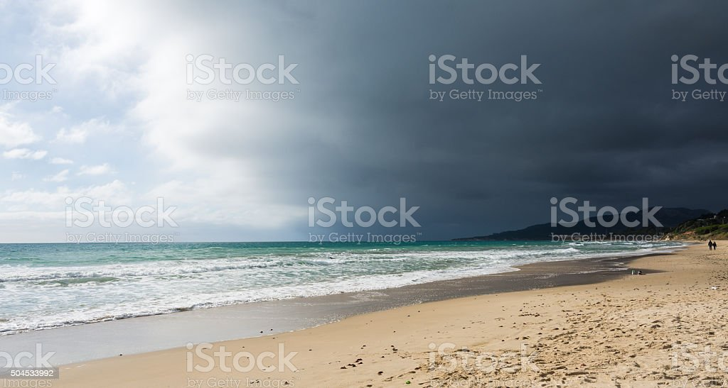 Bad weather moving away. stock photo