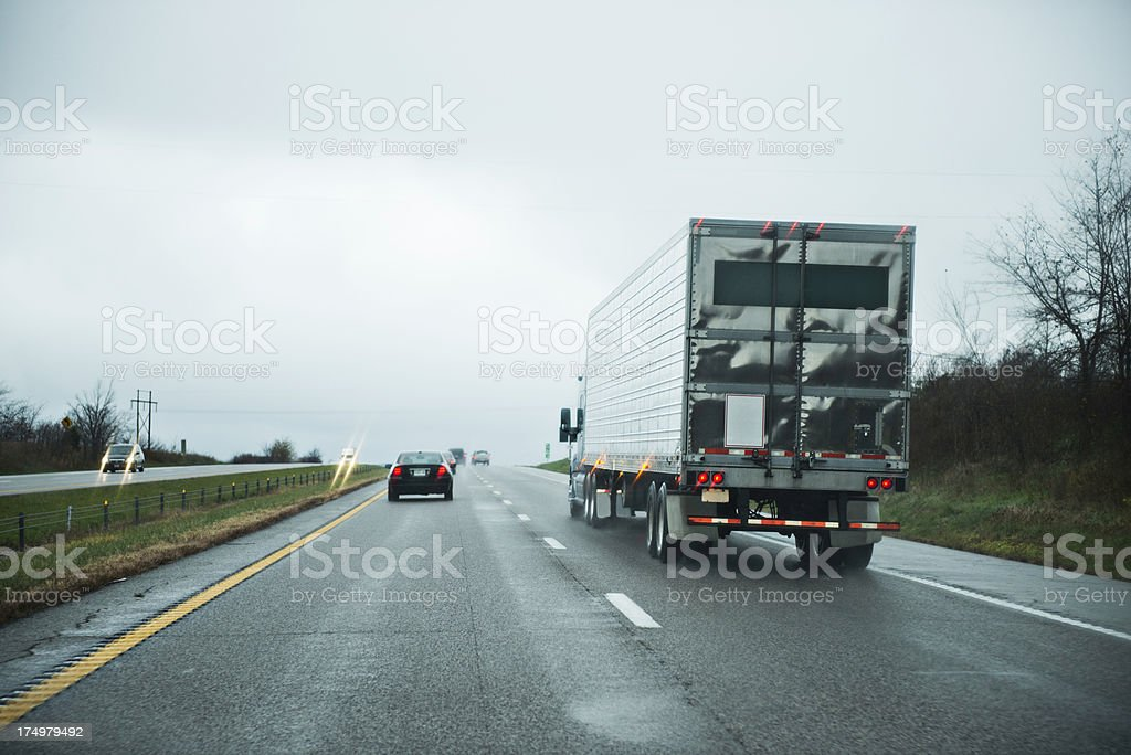 Bad Weather on the Interstate royalty-free stock photo