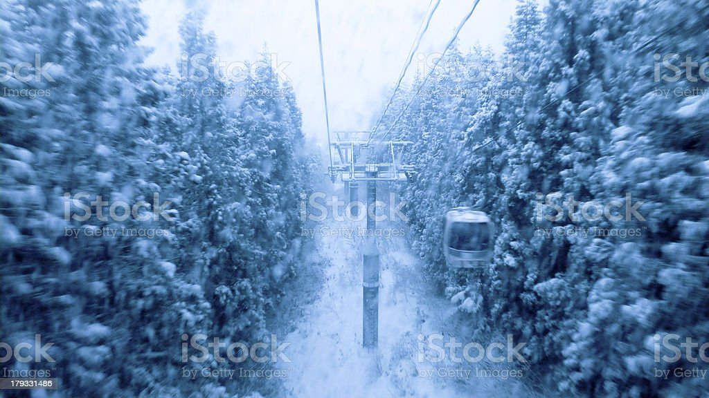 bad winter weather royalty-free stock photo