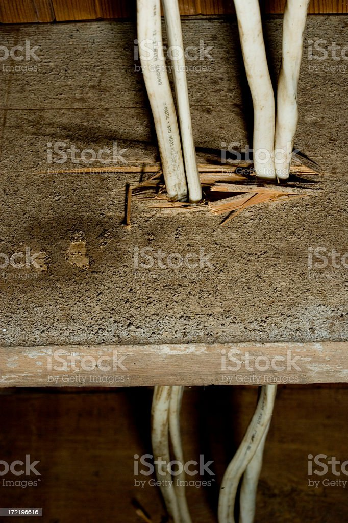 Bad wires royalty-free stock photo