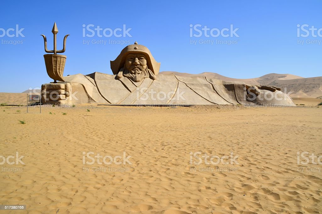 Badain Jaran desert, Inner Mongolia, China stock photo