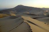 Badain Jaran desert landscape, Inner Mongolia