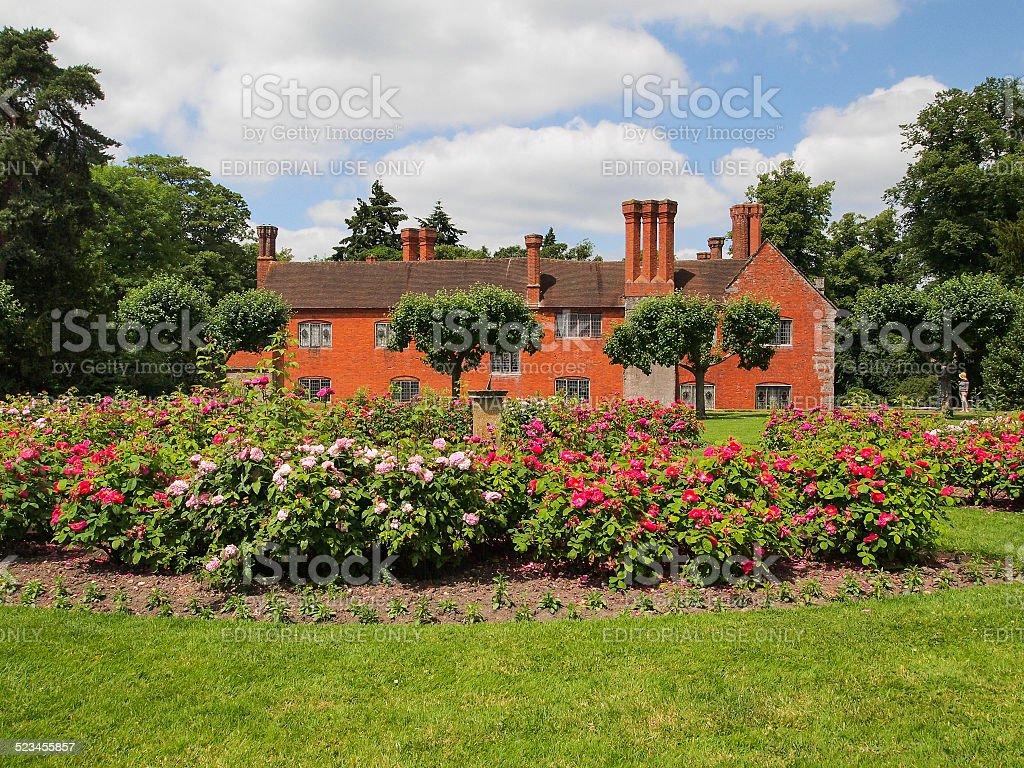 Baddesley Clinton house stock photo