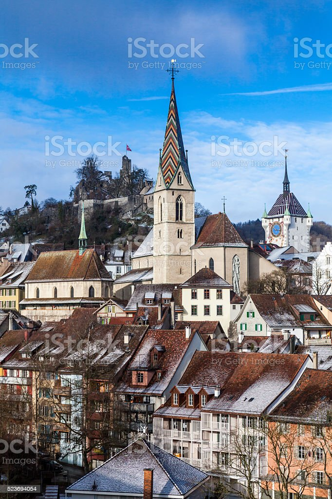 Baden in canton of Aargau, Switzerland stock photo