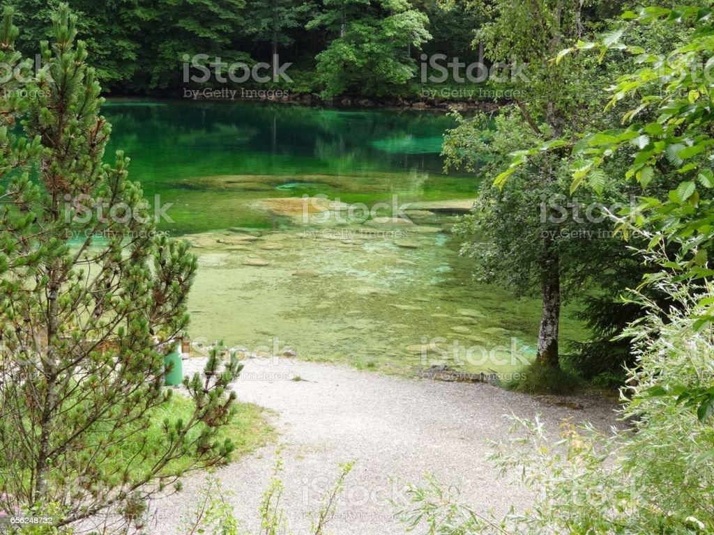 Badersee in Grainau stock photo